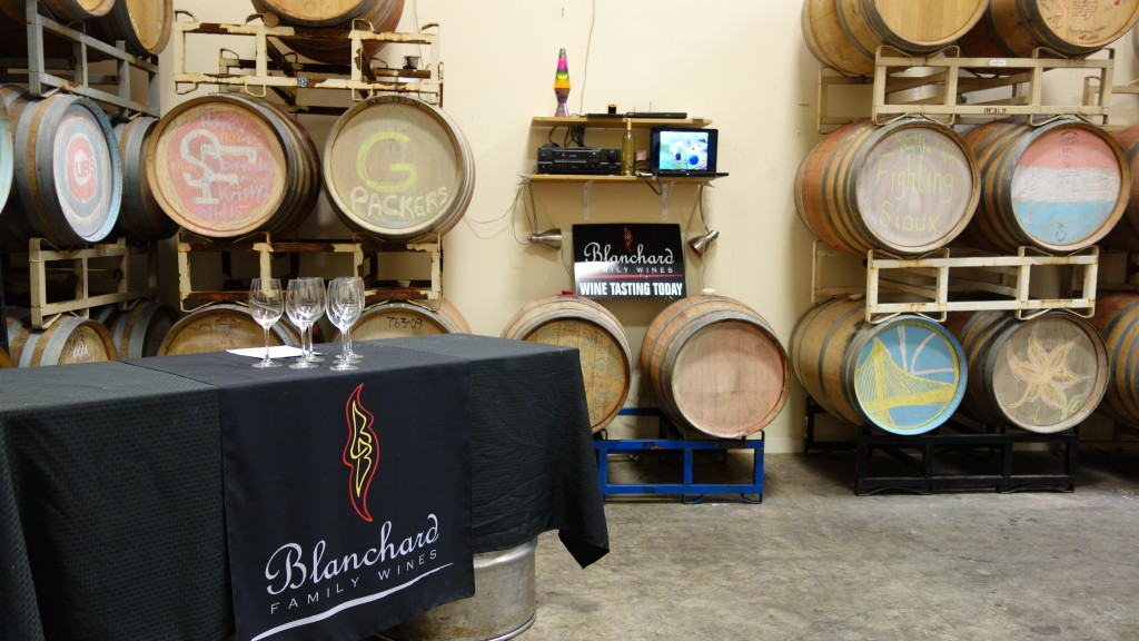Picture of the Barrel Room at Blanchard Family Winery