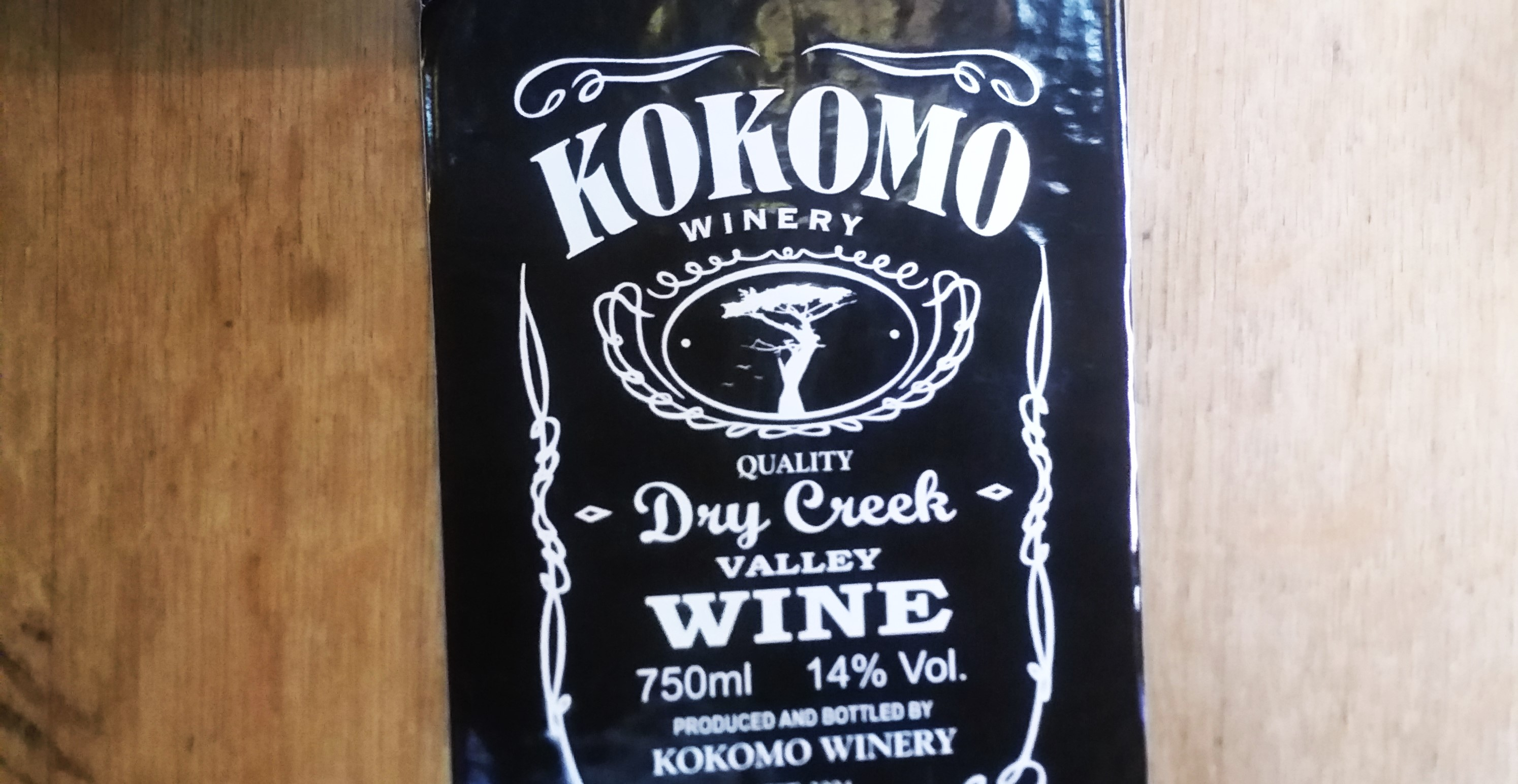 Picture of a Kokomo sticker on a barrel